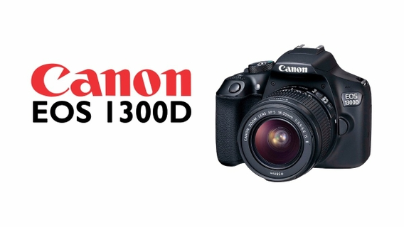 Canon EOS 1300D 18MP WiFi DSLR Camera With 18-55mm Zoom Lens - Black