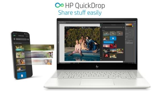 يشمل  HP Quickdrop