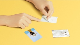 Highly adhesive sticky-backed photo paper