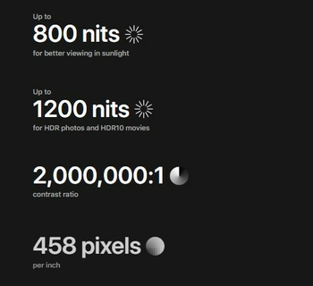 Super Retina XDR الفرق واضح وباين.