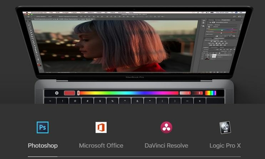 Your Favourite Apps. Now With Touch Bar.