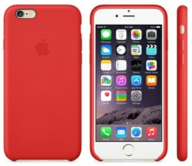 15ee38b6c Apple iPhone 6 Plus Leather Case - Bright Red