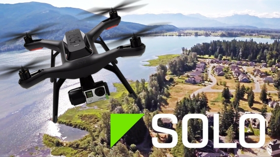 3DR Solo Gimbal for GoPro HERO3+ and HERO4 (GB11A) - Black