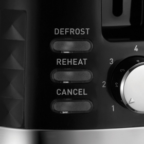 Reheat and Defrost Buttons.