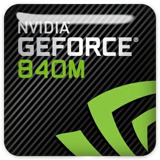 NVIDIA GeForce 840m graphics