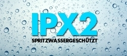 Water Resistant to IPX-2