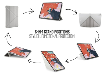 5-in-1 Stand Positions: Stylish, Functional Protection