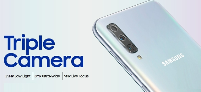 Samsung Galaxy A50 Phone: Triple Camera