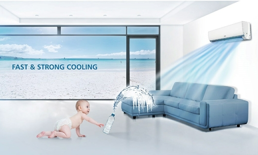 Fast and Strong Cooling Split AC