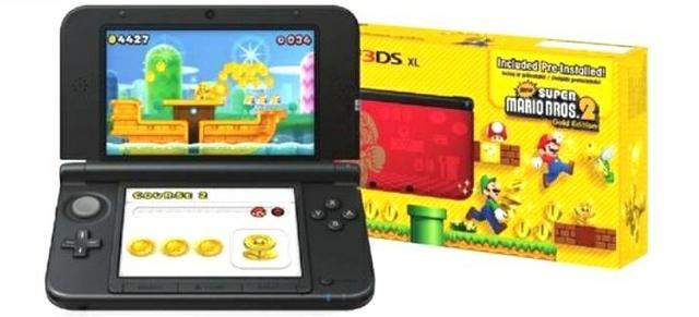Nintendo 3ds Xl Super Mario Bros 2 Gold Edition Portable Console