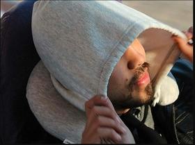 Memory Foam Hooded Neck Pillow