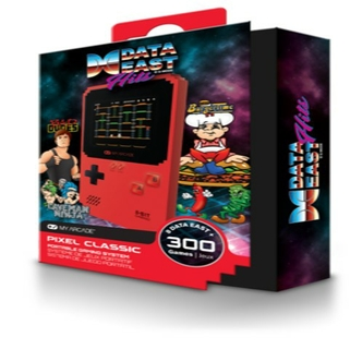 Handheld gaming system with 300 games including 8 Data East™ titles