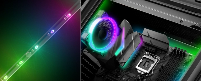 Support for 5V RGB Motherboard Connections