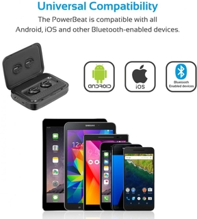 Promate PowerBeat Wireless Bluetooth Earbuds + 5000mAh Power Bank
