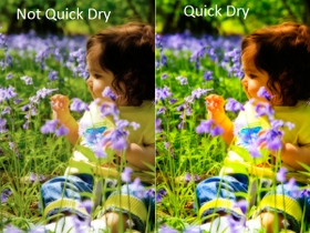 Quick Drying To Prevent Smudges