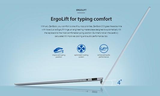 ErgoLift for typing comfort