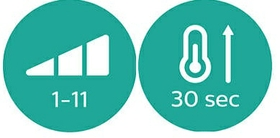 إعدادات رقمية لدرجة الحرارة