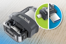 Dual micro-USB and USB 3.0 Connectors