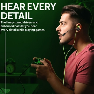 High Fidelity In-Ear Gaming Earphone with Detachable Microphone