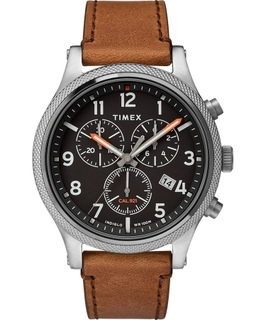 timex Allied LT Chronograph 42mm Leather Strap Watch (TW2T32900) - Brown