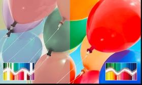 إعادة إنتاج نطاق ألوان أوسع وأكثر دقة