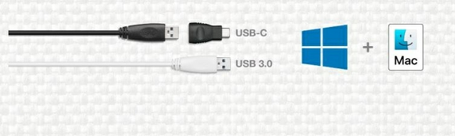 USB-C, USB 3.0 Ready